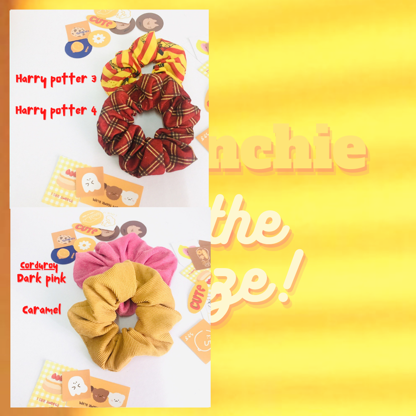 Corduroy scrunchie - rm4.50 pcs (NEW)  ALL SCRUNCHIE AVAILABLE ON SHOPEE!👉🏻👉🏻