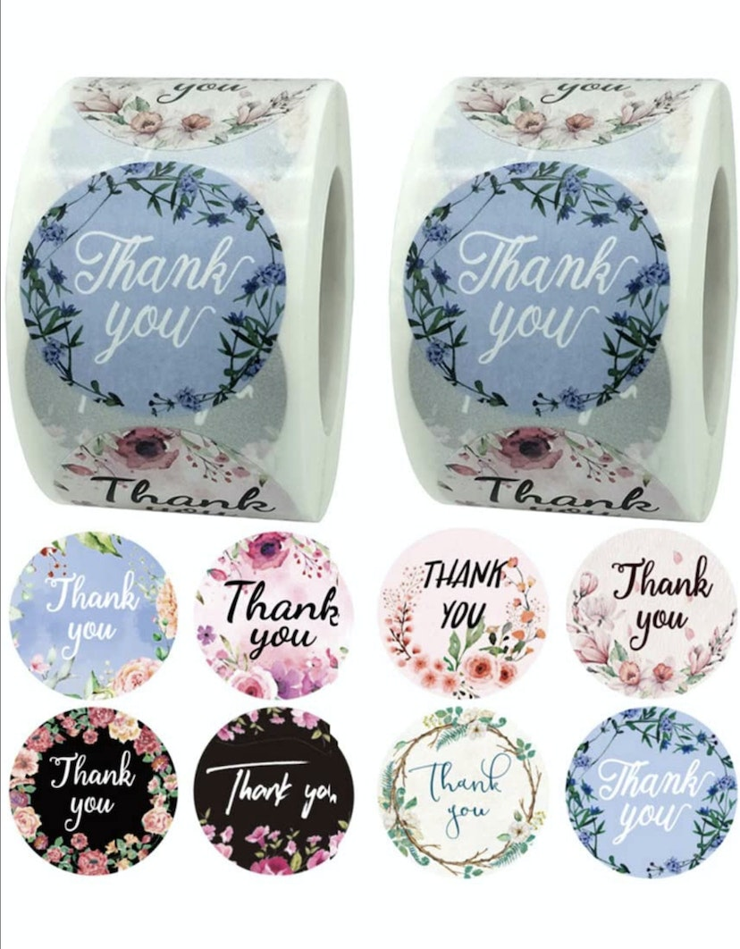 1000 Pcs Thank You Stickers Roll