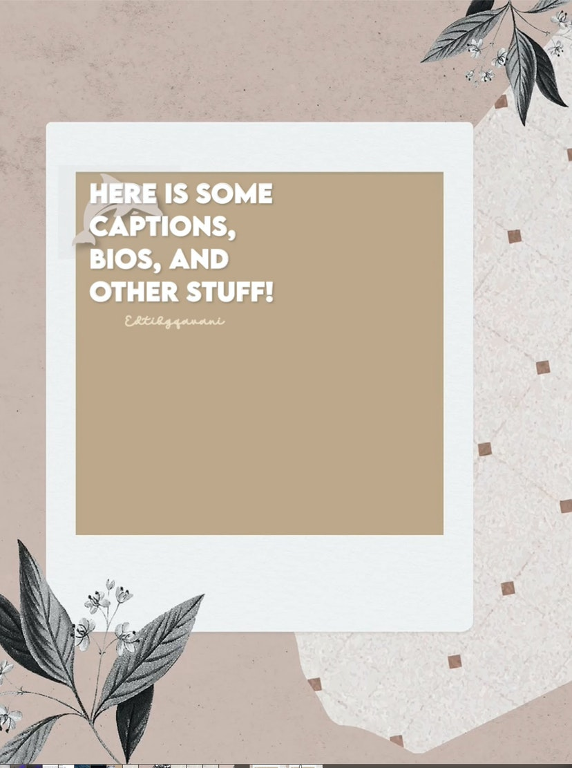 Free captions and aesthetic fonts!