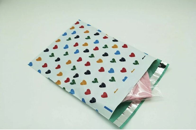 Colorful Hearts Polymailers